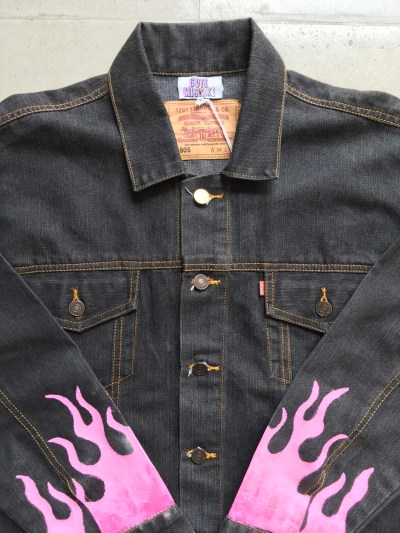 Cute But Psycho Custom Pink Flame Jacket