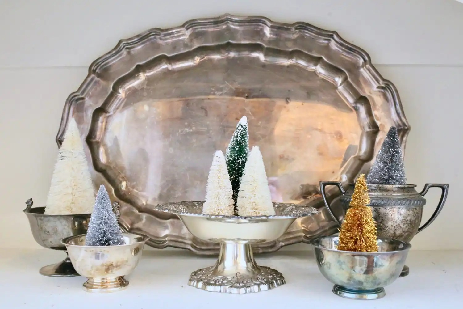decorating with vintage silver antiques