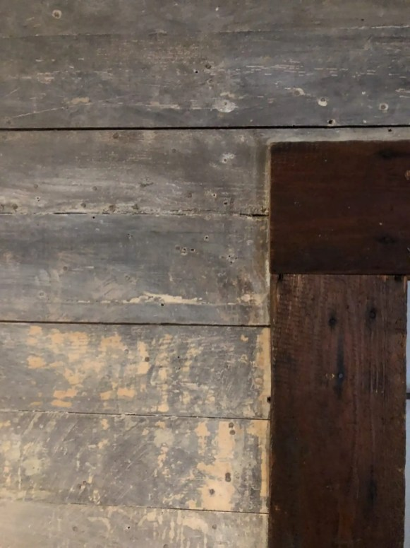 White washed reclaimed wood