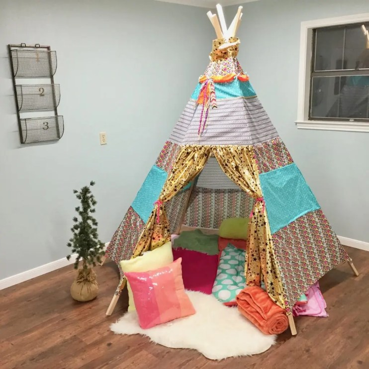 glamping birthday party