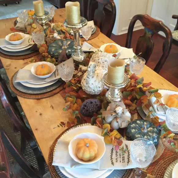 My 2015 Fall tablescape.
