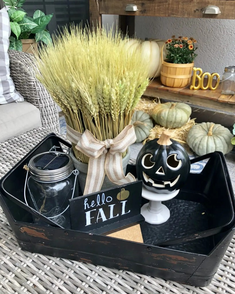 Halloween themed vignette