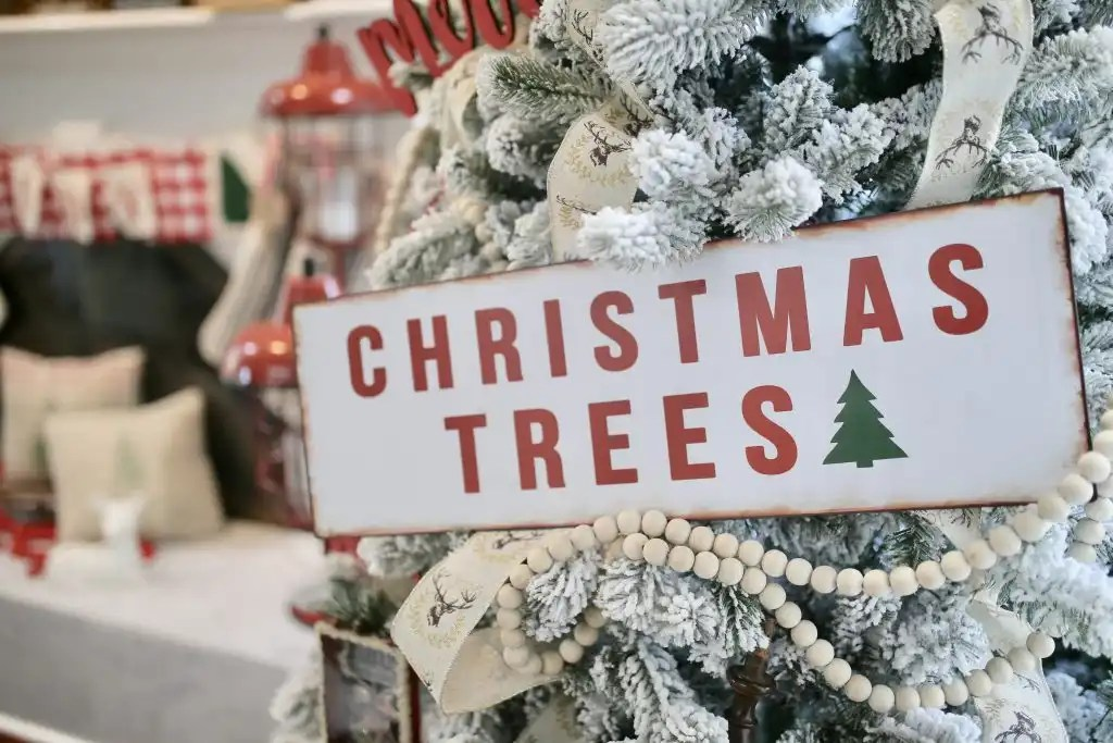 Christmas Trees sign