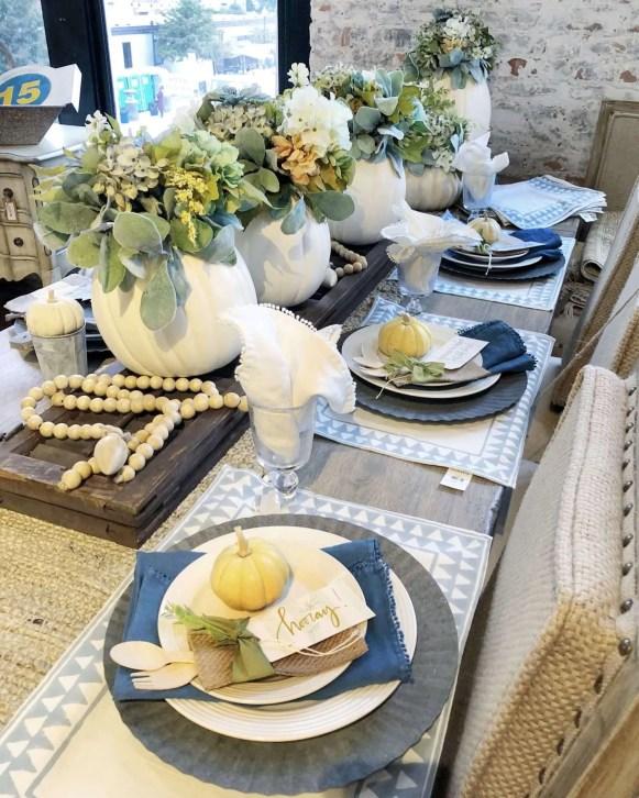 Casual elegant tablescape