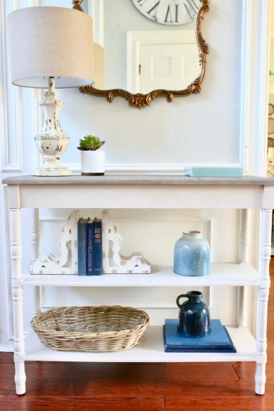 console table in entryway