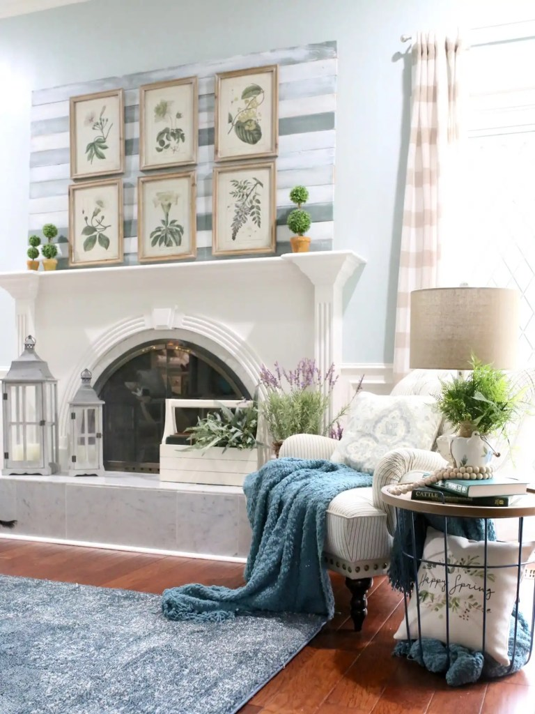 spring decor for living room