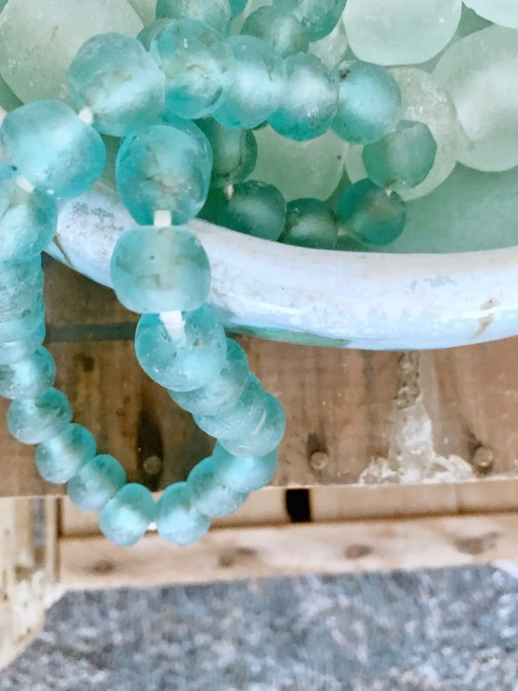 Use decor beads in decorative bowls.