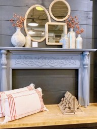 styled fall mantle