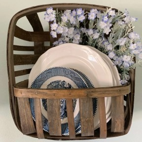 dishes in tobacco basket