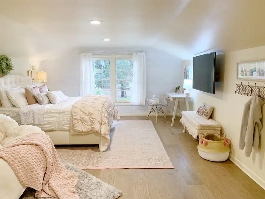 The after of this room shows inviting, intentional spaces.
