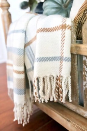 Vintage Plaid Throw Blanket