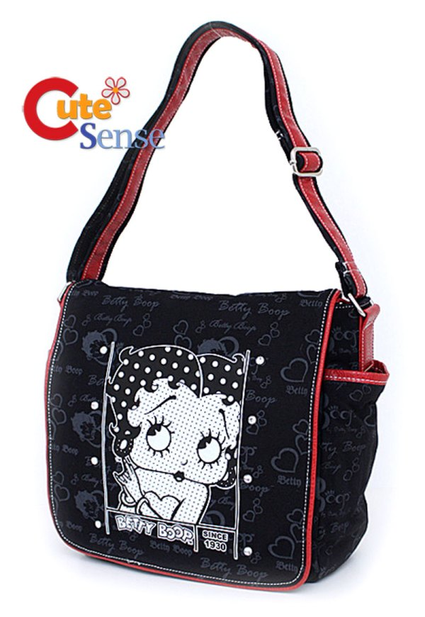 Betty Boop Messenger Bag -leather With Stone -original