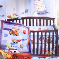Cars McQueen with Mater Baby 4pc Crib Bedding Set | eBay
