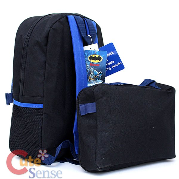 Marvel Batman School Backpack Withlunch Pouch Bag Penguin
