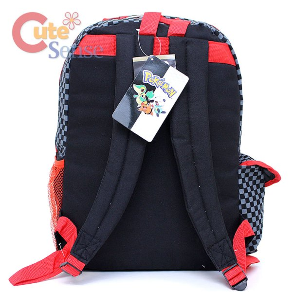 "Pokemon 16"" Large School Backpack Black & White Bag"