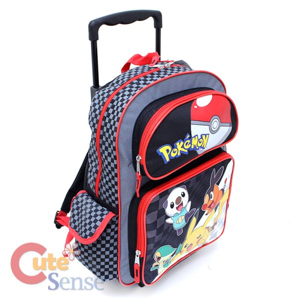 "Pokemon 16"" Large Roller School Backpack Lunch Bag Set"