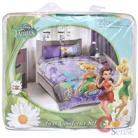 Disney Tinkerbell Fairies Twin Comforter 3pc Set Bedding ...