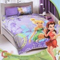 Tinkerbell Fairies Twin Bedding Comforter Set 3pc Kids