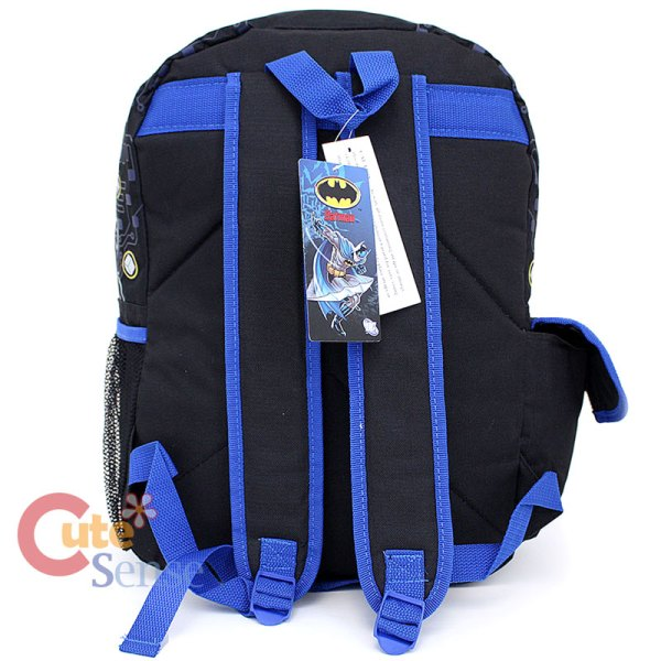 "Dc Comics Batman School Backpack 16"" Large Bag With Joker"
