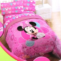 Disney Minnie Mouse Comforter Twin size 4pcs Sheet Pillow ...