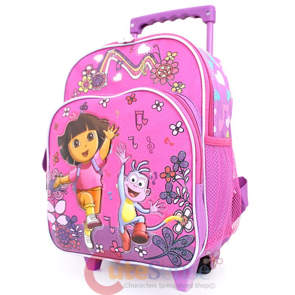 "Dora Explorer With Boots 12"" School Roller Backpack"