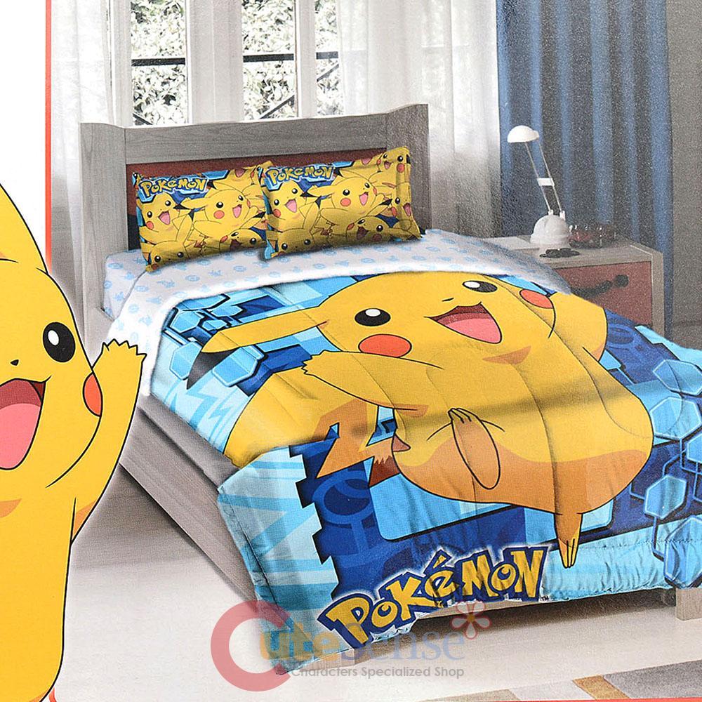 Nintendo Pokemon Pikchue Bedding Comforter Sharm Set