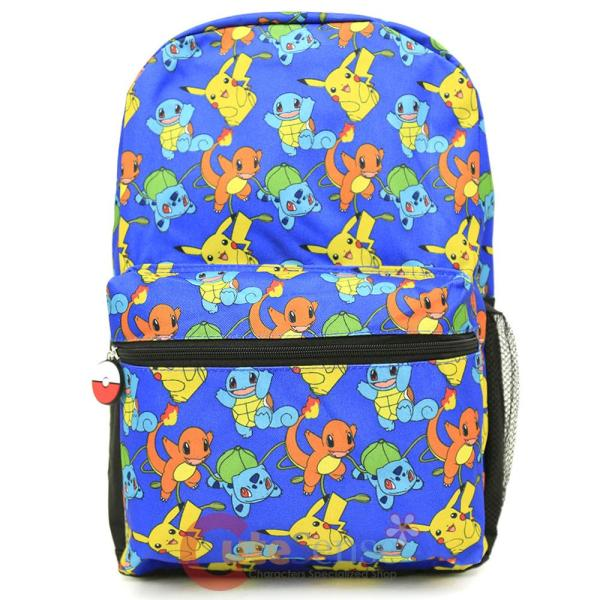 "Pokemon Xy 17"" Large School Backpack Pikachu Charmander"