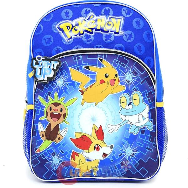 """Pokemon Large School Backpack 16"""" Book Bag - Leaping"""