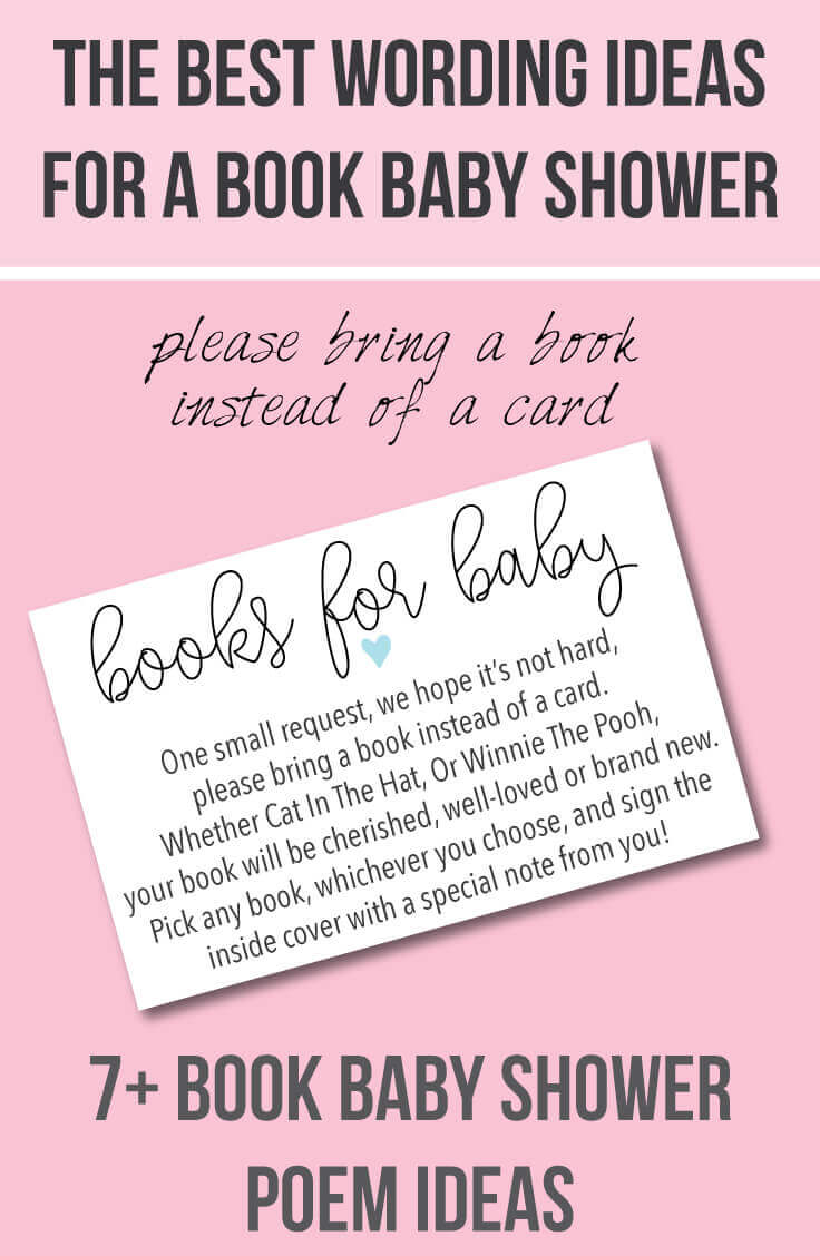 Cute Clever Wording Ideas For Book Baby Shower Invitations