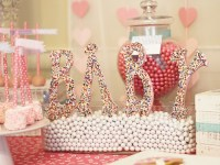 Sprinkle Baby Shower Theme Ideas! Pink hearts and colorful