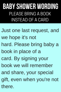 """9 """"Bring a Book Instead of a Card"""" Baby Shower Invitation ..."""