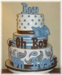 Cute Boy Baby Shower Cakes! How to ideas, decorating tips ...