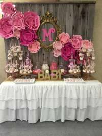 Modern Baby Shower Decorations! How to Make Sock Rose ...