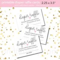 10+ Diaper Raffle Wording Ideas (Diaper Raffle Tickets Too)