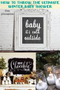 Winter & Christmas Baby Shower Ideas with free printable ...