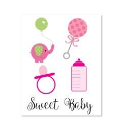 girl baby shower clipart image [ 1000 x 1000 Pixel ]