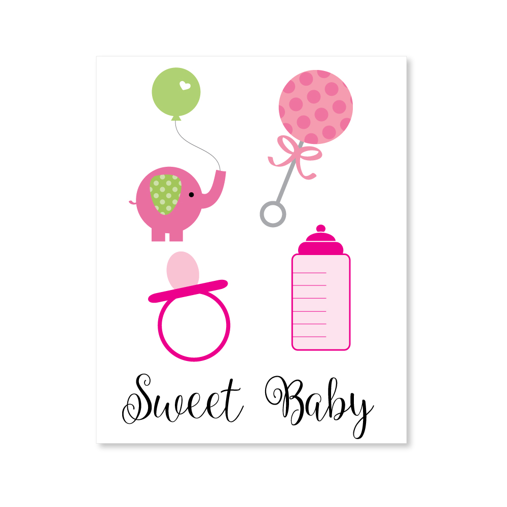 hight resolution of girl baby shower clipart image