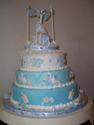 Baby Shower Cake Topper Decoration Stork