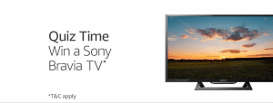 Amazon Sony Tv Quiz
