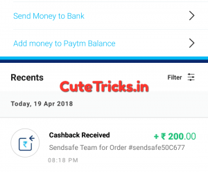 Send Safe App Paytm