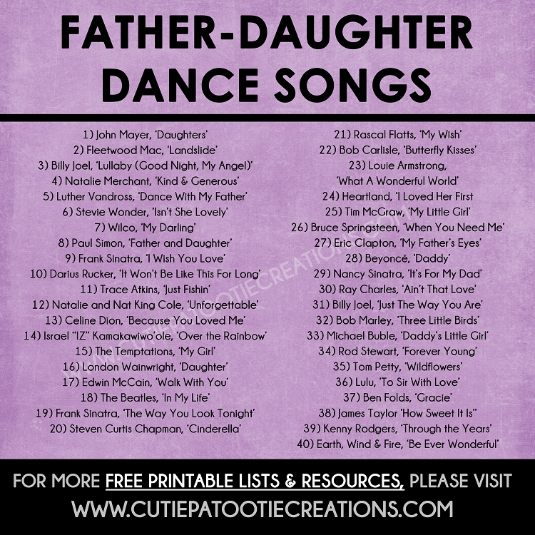 father daughter dance songs