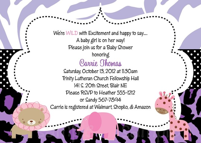 Facebook baby shower invitations paperinvite purple safari baby shower invitations filmwisefo