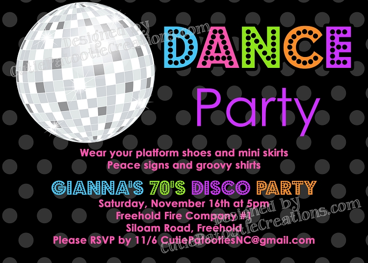 70s 80s and 90s disco dance party