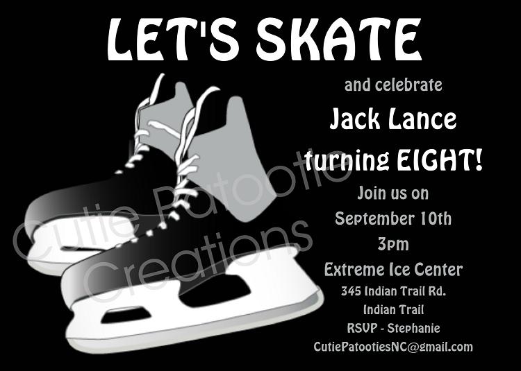 hockey sports birthday invitations for
