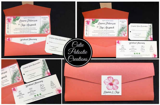 Destination Wedding Travel Invitation Colors And Theme Fully Customizable