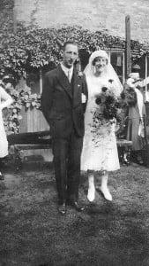 Fred Cullum, Dora Briselden, wedding Sep 1926