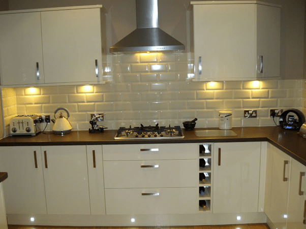 Euro White Gloss Kitchen Customer Examples