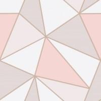 Fine Decor Apex Geometric Wallpaper - FD41993 -Pink/Rose ...