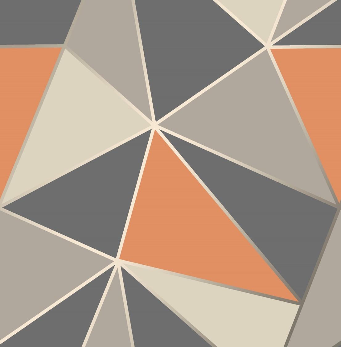 orange kitchen wallpaper floor mats washable fine decor apex geometric fd42002