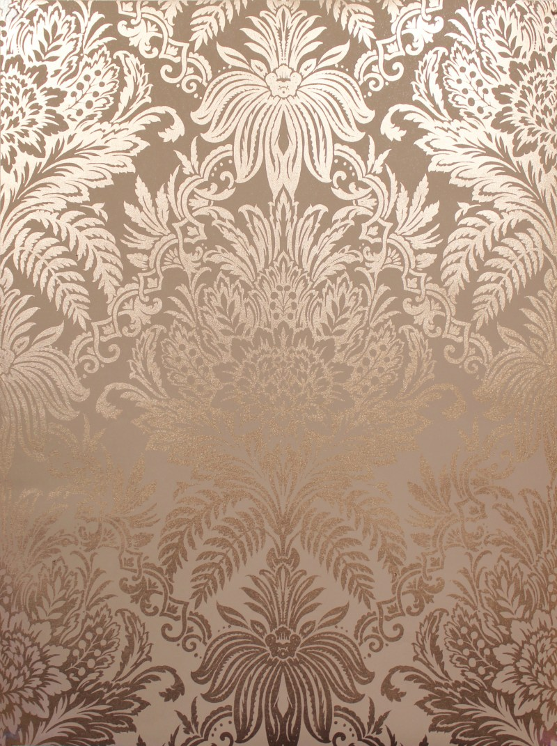 Gorgeous Crown Luxe Signature Foil Wallpaper Rose G Rose G